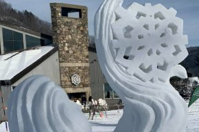 Out of this World Snow Sculpture