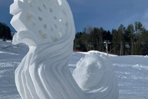 Cosmic Snow Sculpture