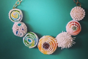 Embroidering with Seed Beads