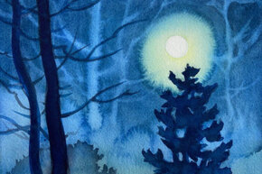 Virtual Class: Don't Be Afraid of the Darks - Painting Night Scenes in Watercolor
