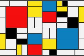 Collage à la Mondrian